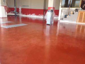 Hormigón pulido rojo