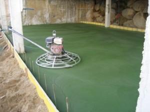 Hormigón pulido verde