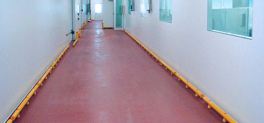 pavimento continuo (resina rojo)