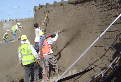 muros en hormigon proyectado