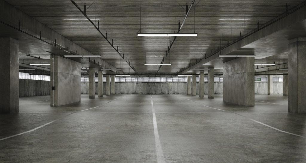 Pavimentos de hormigón en garaje